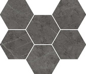 Мозаика Italon Сharme Evo Antracite Hexagon 25*29