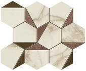 Atlas Concorde Marvel Gold Hex Brown-Calacatta 25,1x29